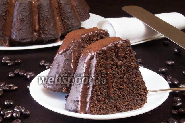 Фото Рождественский шоколадный кекс с маком