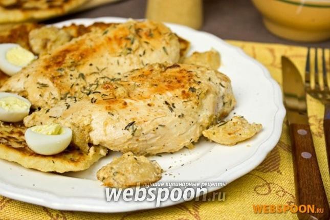 Фото Куриная грудка в яблочно-сливочном соусе