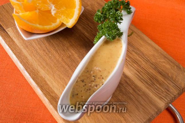 Фото Апельсиновый соус с горчицей и кунжутом