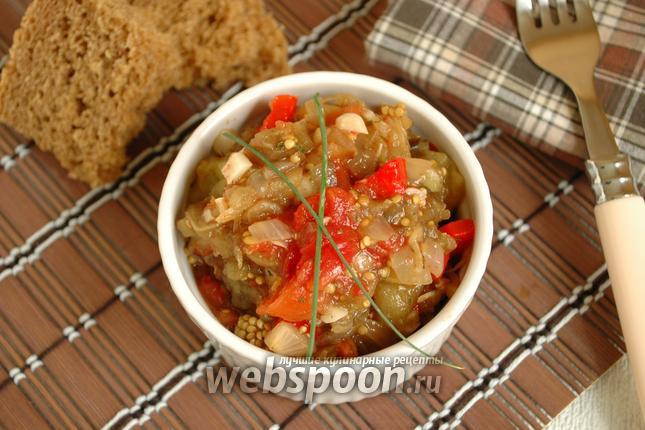 Фото Икра из запечённых овощей