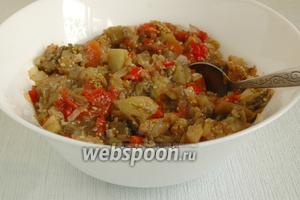 Перемешать, попробовать на вкус. При необходимости добавить соль или пряности. Икра вкусна как в тёплом, так и в охлажденном виде.