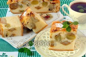«Накрахмаленный» яблочно-виноградный пирог