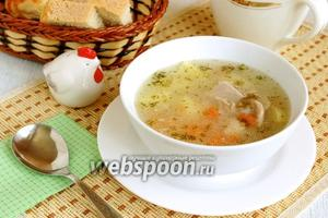 Суп с курицей и рисом