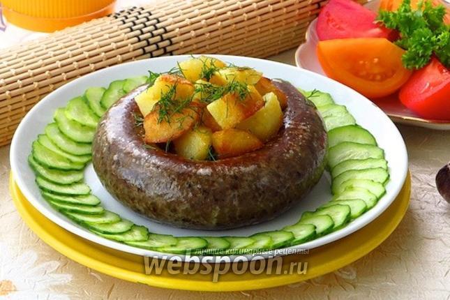 Фото Кровяная колбаса с гречкой