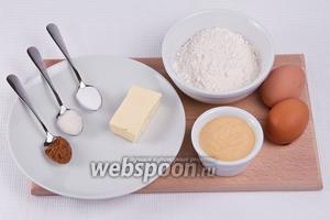 Основные ингредиенты: мука, яйца, какао, сода, сахар, масло, сгущённое молоко.