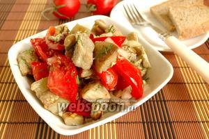 Салат из баклажан и яиц