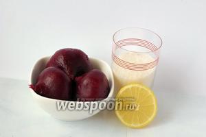 Для приготовления свекольного джема нам понадобится варёная свекла, сахар, лимон.