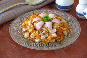 Закуска с солёной сельдью «Праздничная»
