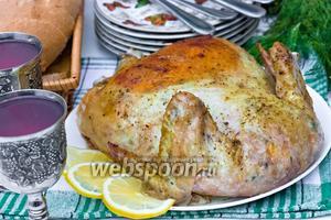 Галантин из запечённой курицы