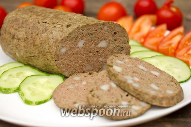 Фото Домашняя печёночная колбаса