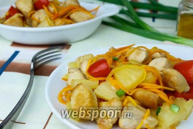 Фото Курица с ананасом