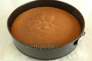 На 30 минут про бисквит нужно «забыть». Духовку открывать нельзя, чтобы бисквит не опал. Готовый бисквит вынуть из духовки, дать постоять 10 минут.