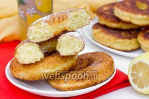 Творожные лимонные пончики