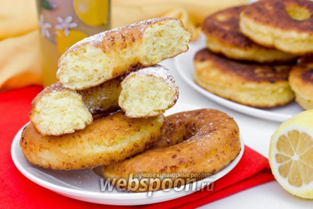 Фото Творожные лимонные пончики