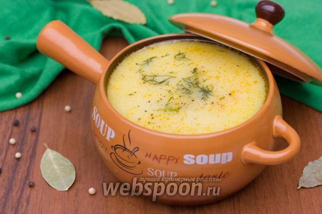 Фото Суп с белыми грибами и плавленым сырком