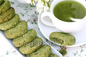 Печенье с чаем маття и кунжутом