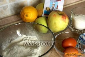 Чтобы приготовить французский яблочный пирог необходимо взять сливочное масло, яблоки, лимон, муку, сахар, яйца и ванилин.