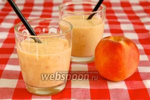 Смузи персиковый с йогуртом