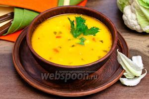 Королевский суп с цветной капустой