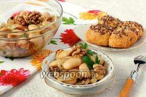 Салат с фасолью и грецкими орехами