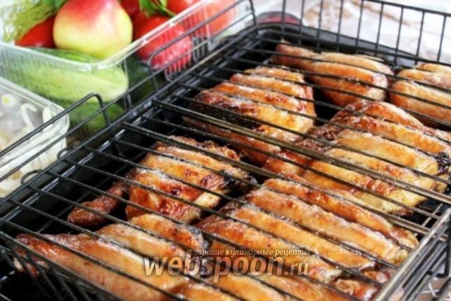 Шашлык из курицы с соусом барбекю может ли газовый котёл находиться рядом с камином