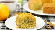 Фото рецепта Апельсиновый кекс из кукурузной муки