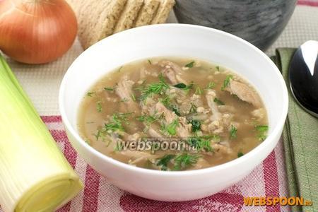 Куриный суп с грецкими орехами