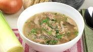 Фото рецепта Куриный суп с грецкими орехами
