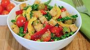 Фото рецепта Салат с савойской капустой