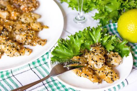 Филе пангасиуса в кунжутной панировке