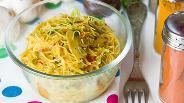 Фото рецепта «Оранжевая» рисовая лапша с шампиньонами