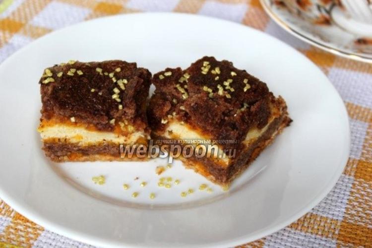 Фото Насыпной пирог с тыквой