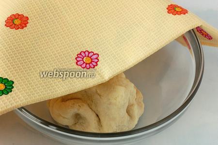Накрыть тесто полотенцем и оставить в тёплом месте на 30 минут.