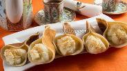 Фото рецепта Катаеф — арабские блинчики с заварным кремом