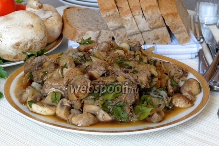 Фото Жаркое из свинины с грибами