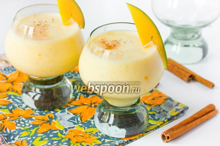Фото Молочный коктейль с манго и корицей