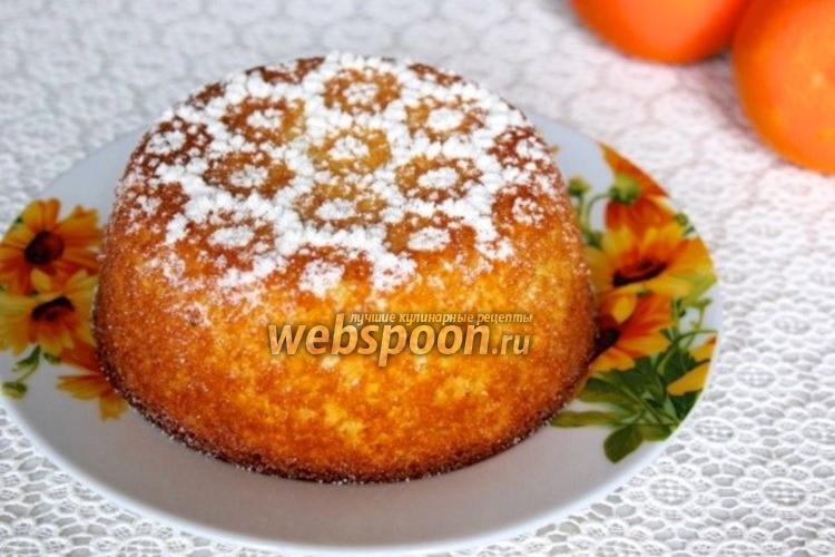 Фото Апельсиновый кекс из манной крупы