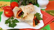 Фото рецепта Буррито с курицей и перцем