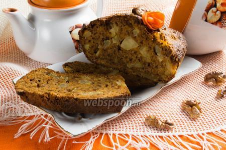 Кекс морковный с ананасом и орехами