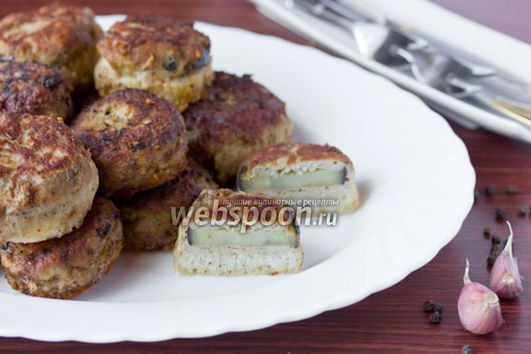 Фото Котлеты из свинины с баклажанами