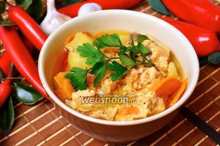 Суп с сёмгой на паровой бане