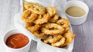 Фото рецепта Кольца кальмара в кляре