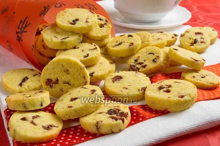 Печенье с сушёной клюквой