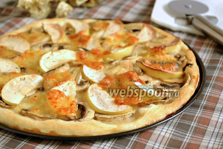 Фото Пицца с шампиньонами