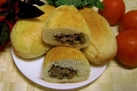 Пирожки с начинкой из куриных сердечек печёные