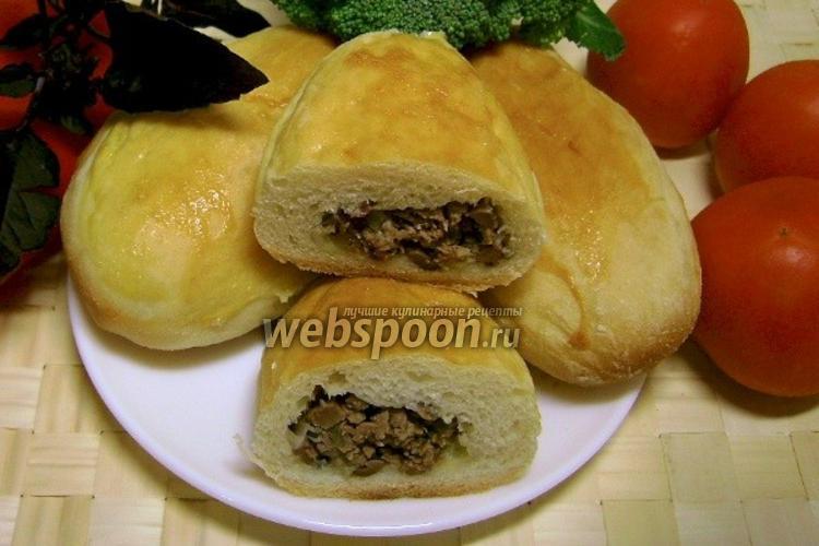 Фото Пирожки с начинкой из куриных сердечек печёные