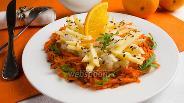 Фото рецепта Салат из редьки с апельсиновым соусом