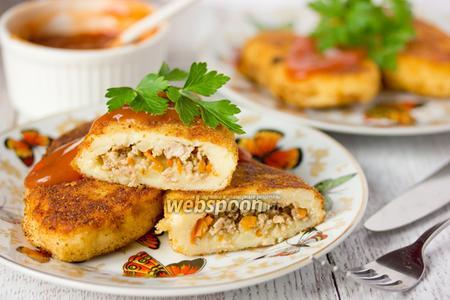 Картофельные зразы с мясом видео рецепт