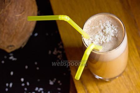Фото рецепта Кофейно-кокосовый шейк