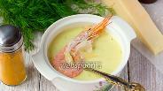 Фото рецепта Сырный крем-суп с креветками